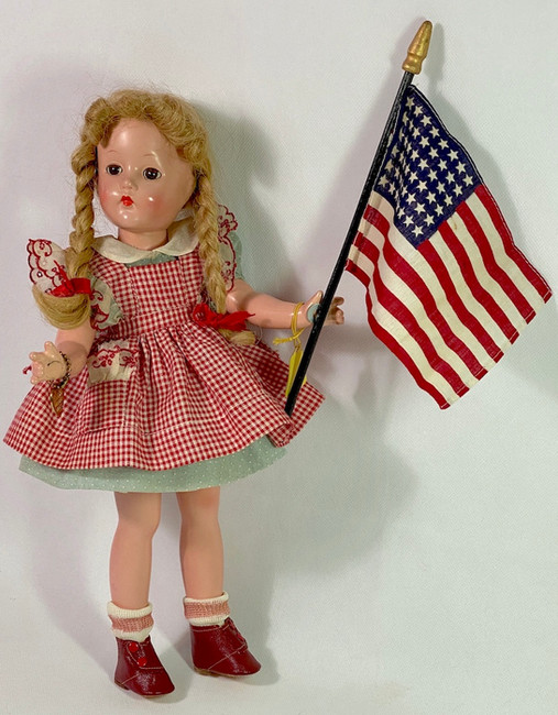 1940's FAO Schwarz Magnetic Hands Compo Suzanne