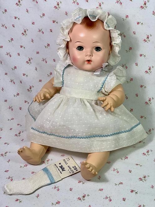 """Vintage REAL Effanbee Factory 15"""" Dy-Dee Jane Dress Set"""