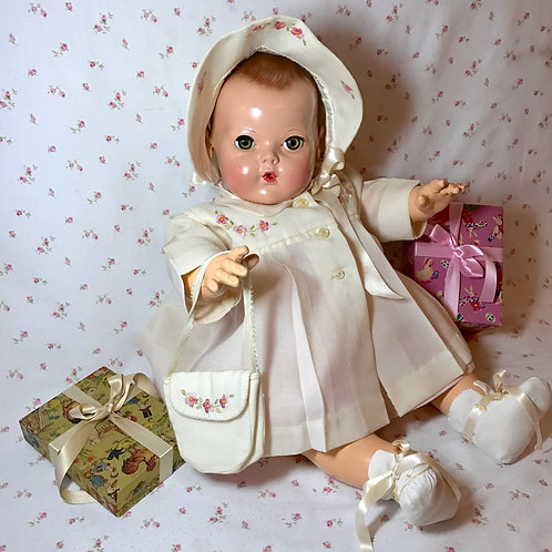 Mint and Pristine Easter Coat Set for Dy-Dee Lou and other baby dolls