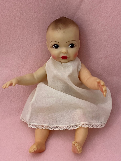 "1950s Vintage 10"" Brunette Baby Linda Lee Doll by Terri Lee"