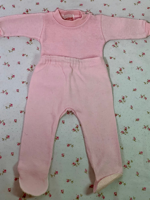 "Vintage Healthknit Vibrant Pink Footed Pajamas for 15"" to 18"" Tiny Tears Dy-De"
