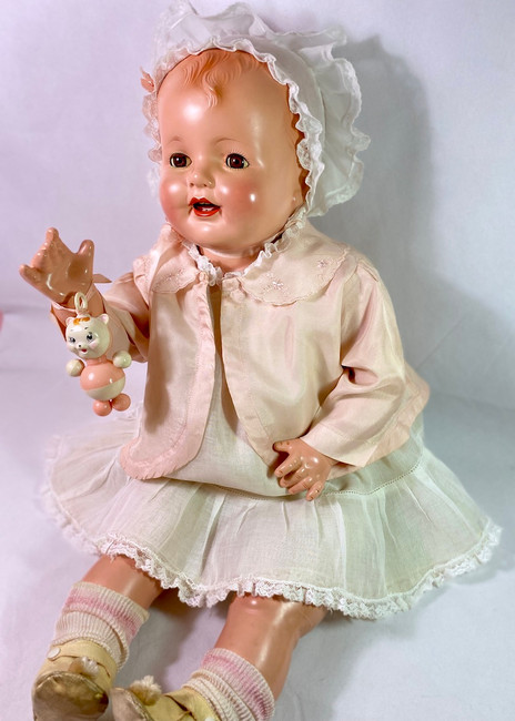 """VERY RARE 1920s Effanbee 28"""" Composition Lovums Baby Doll"""