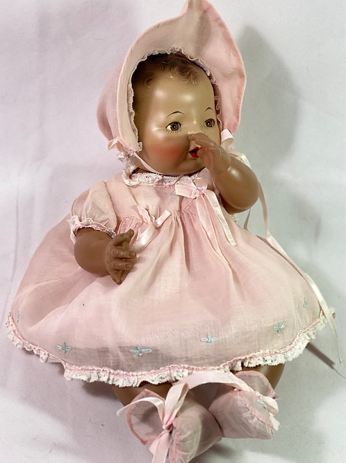 """RARE 1930s Effanbee 15"""" Dy-Dee SUNTAN/ BLACK Baby Doll #2"""