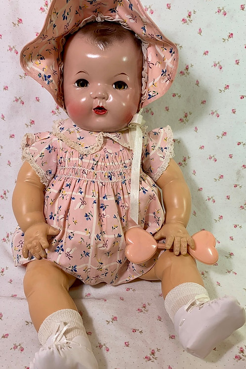 """Vintage 1930s Effanbee 20"""" Mold 1 Dy-Dee LOU Baby Doll"""