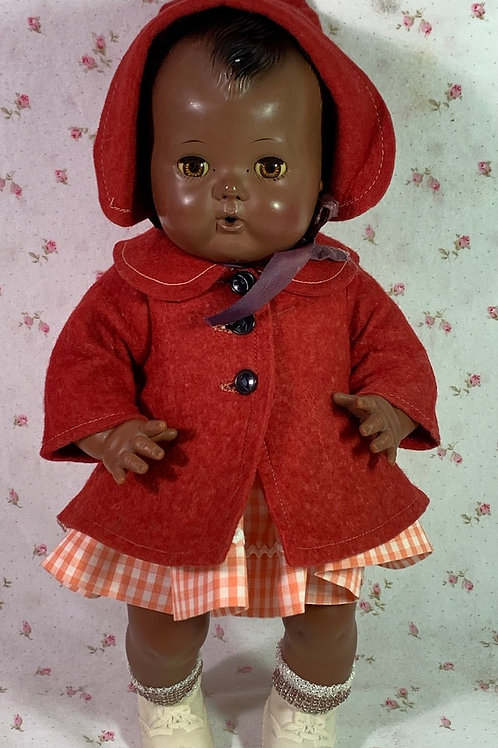 """Coat and Dress Set for 13"""" to 14"""" Baby Doll -- Tiny Tears"""
