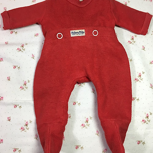 "Vintage Red NITEY NITE Pajamas for 13"" to 14"" Tiny Tears and Friend"