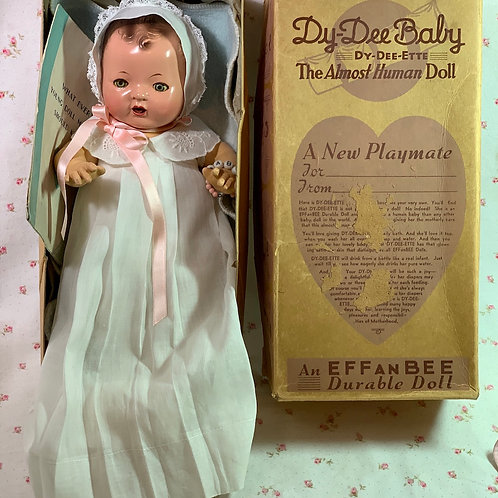 "1930's Effanbee 11"" Dy-Dee Ette Baby Doll Mold 1 in BOX"