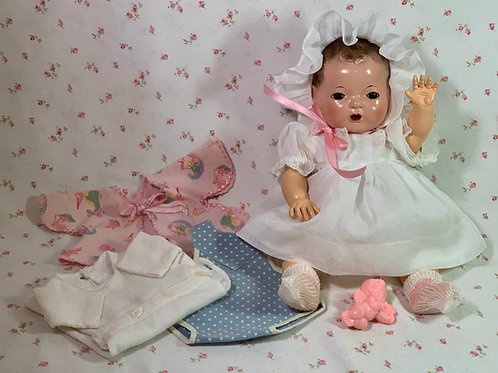 """Vintage 1937 Effanbee 13"""" Dy-Dee Kin Doll"""