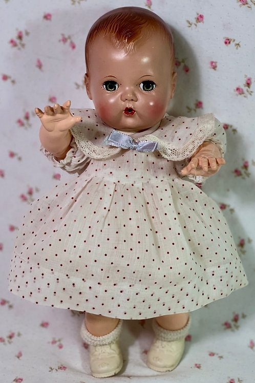 """SUPER RARE -- 1940's Effanbee 11"""" Dy-Dee Ette COVER PHOTO Dress from Dy-Dee Book"""