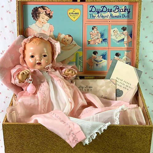 BLOND 1937 Mold 1 Effanbee Dy-Dee Doll with EVERYTHING