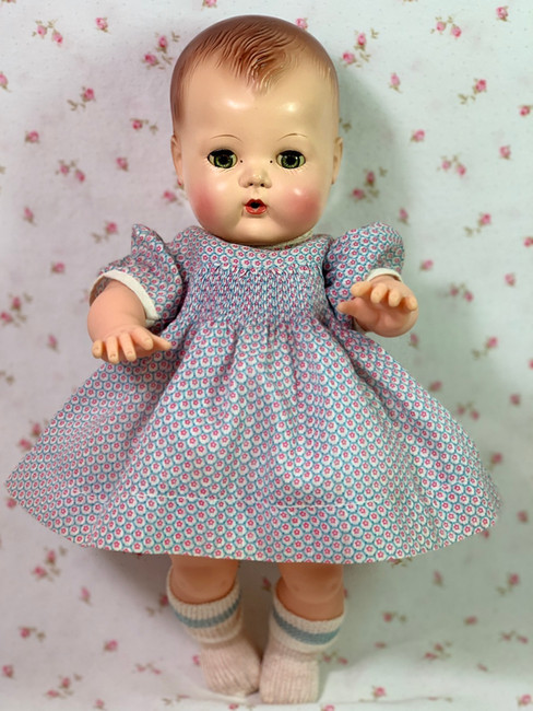 1950's Organdy Smocked Dress for Tiny Tears and Friends
