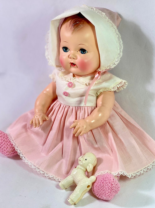 """1950s American Character 16""""  Tiny Tears Baby Doll"""