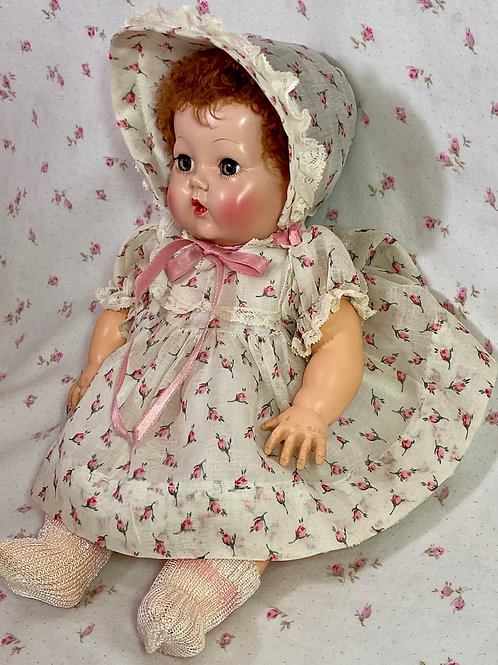 "Vintage Original Effanbee 11"" Dy-Dee Factory Layette Dress"