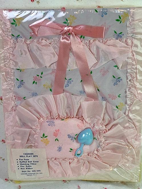 1950s Mint Doll Blanket / Coverlet Set