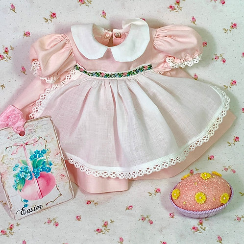 """Vintage 1950s Pink Party Dress for 13"""" to 14"""" Dolls"""