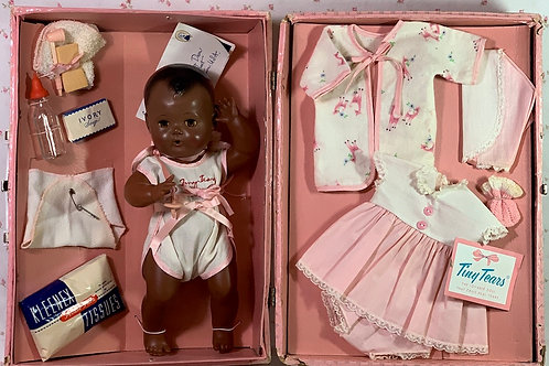 RARE American Character BLACK Tiny Tears (BABY TEARS) 1956 in Case