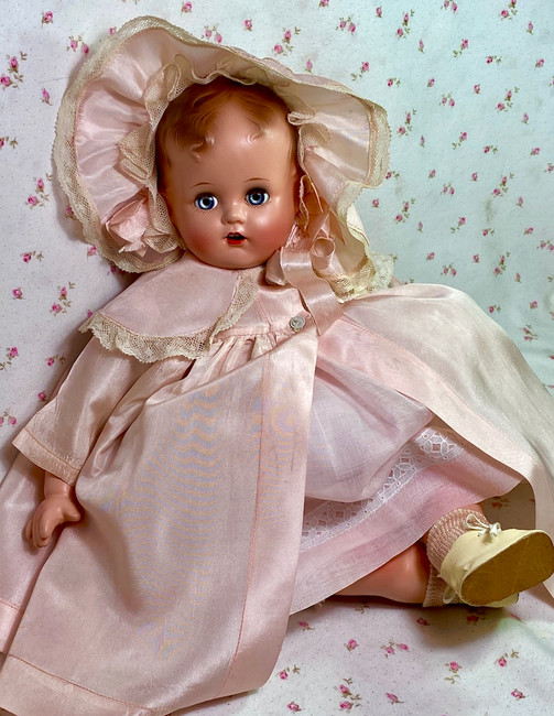 "RARE 17"" Vintage 1947 Ideal Baby Beautiful Doll"