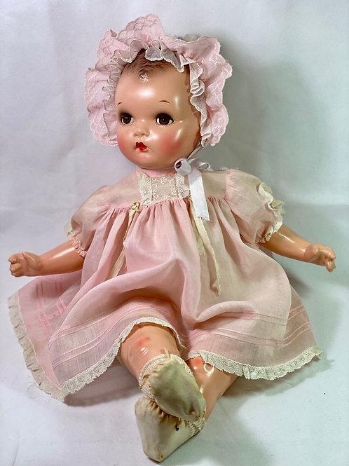 "Vintage IDEAL 22"" Flirty Eye 1930s Plassie Composition Baby DolTl"