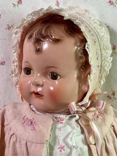 "RARE --1930s Effanbee EARLY SUGAR BABY 20"" Composition Doll"