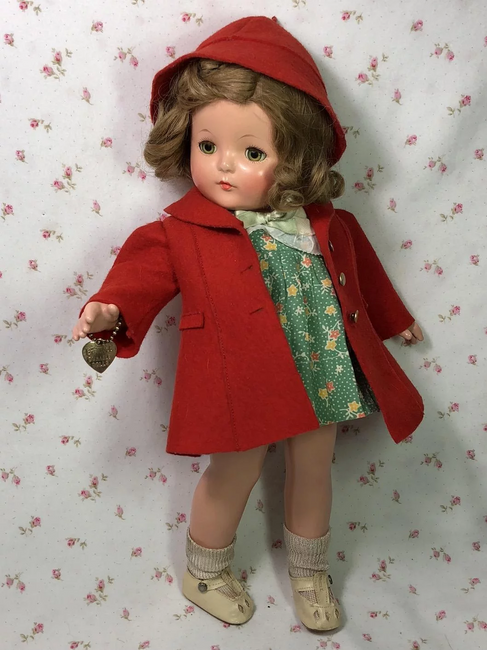 """RARE 1930's Effanbee 14"""" Patsy Family Patricia Doll and Outfits"""