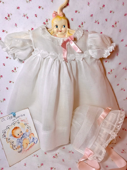 "Original Effanbee Factory 20"" Dy-Dee Louise Doll Dress and Bonnet"