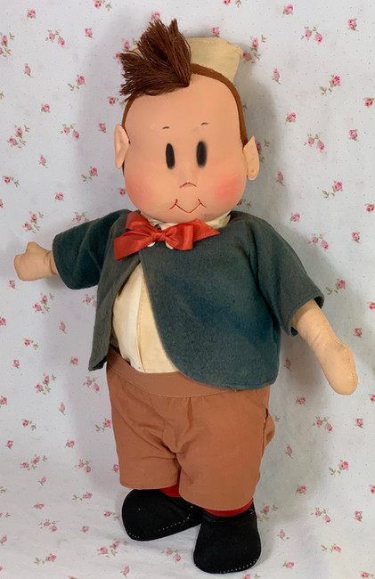 "1940's Georgene Averill 13"" Cloth LITTLE LULU Friend TUBBY"