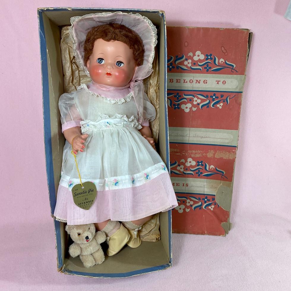 "1939 Vintage Effanbee Sweetie Pie Doll 18"" Composition"