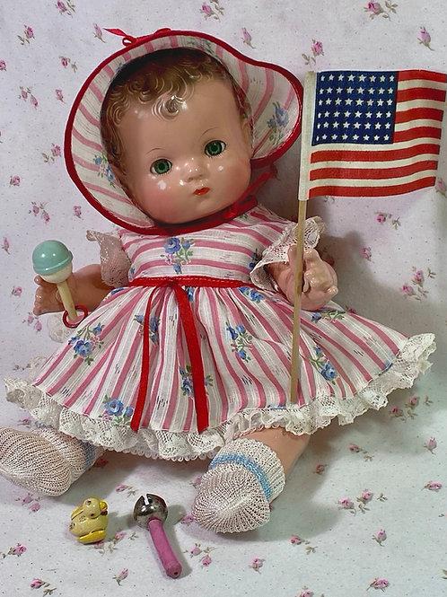 VERY RARE 1940s Effanbee Patsy Babykin Magnetic Hands Doll