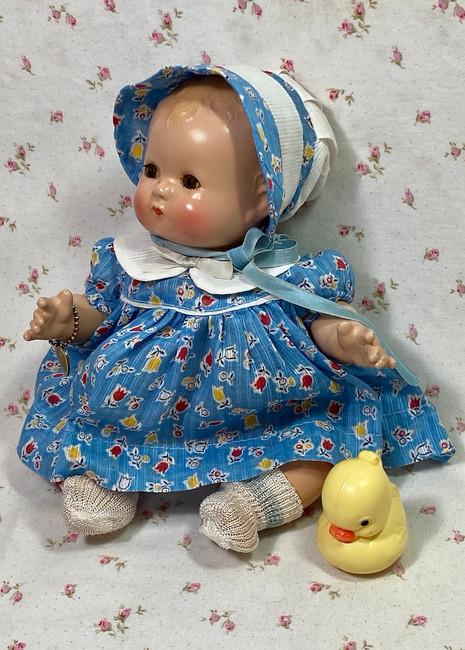 """1930s Vintage Effanbee 10"""" Patsy Babykin Blondie"""