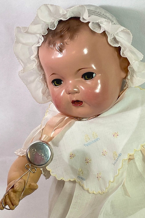 "Rare 1930s Silver Bell Rattle for 20"" Dy-Dee Lou"