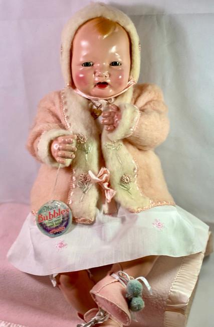 "Vintage 1924 Effanbee 25"" Bubbles Composition All Original Baby Doll"