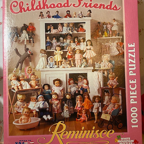 Vintage Childhood Friends of the 1950s Doll Puzzle 1000 Pieces