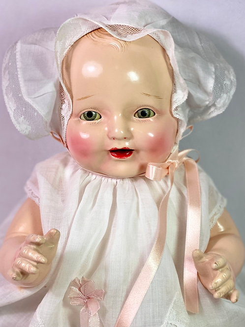 """1927 American Character Petite 19"""" Happy Tot Composition Doll"""