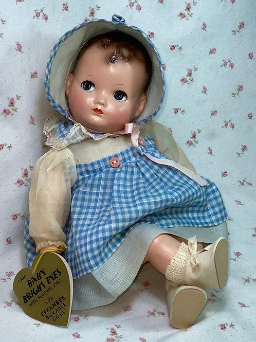 """1944 Vintage 13"""" Effanbee Baby Bright Eyes -- Flirty Eyes -- PRISTINE"""