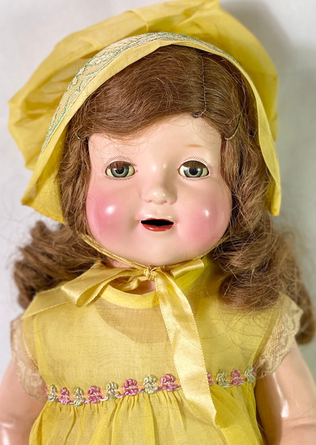 """1930s Vintage 22"""" American Character Petite Composition Girl Doll"""