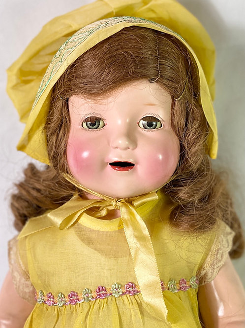 "1930s Vintage 22"" American Character Petite Composition Girl Doll"