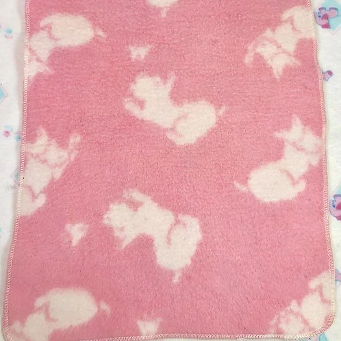 1930's Effanbee Esmond 'Eiderdown' Dy-Dee Doll Blanket — Scotty Dog / Butterfly