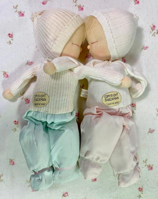 "RARE 1957 Shackman 6"" Sleepy Baby Doll Twins Mint in Box"