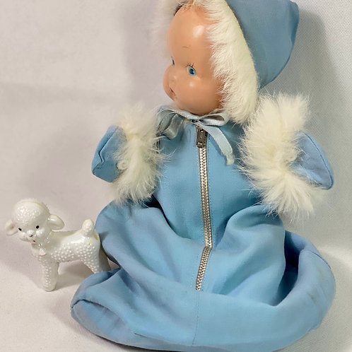 "RARE  Molly'es Rabbit Fur Trim Outfit for 11"" Little Cherub"