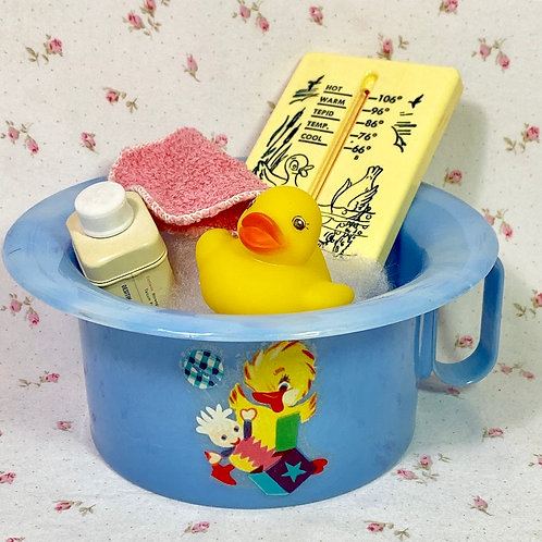 "Vintage Dy-dee Tiny Tears Blue Duck Potty with ""Essentials"""