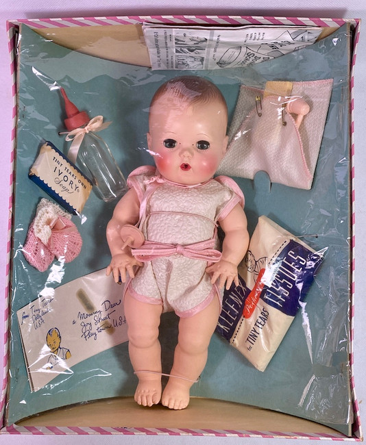 """1953 American Character 11.5"""" Tiny Tears Baby Doll"""