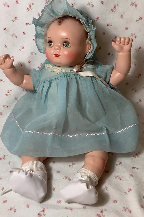 "RARE Madame Hendren 17"" Georgene Baby Music Box Composition Doll"