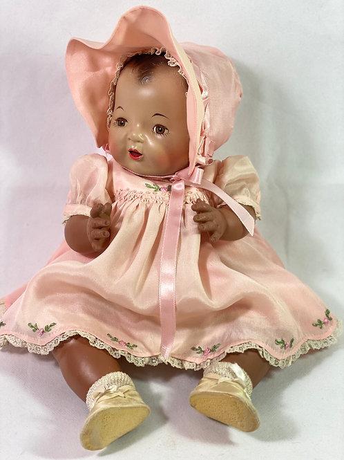 """RARE 1930s Effanbee 15"""" Dy-Dee SUNTAN/ BLACK Baby Doll"""
