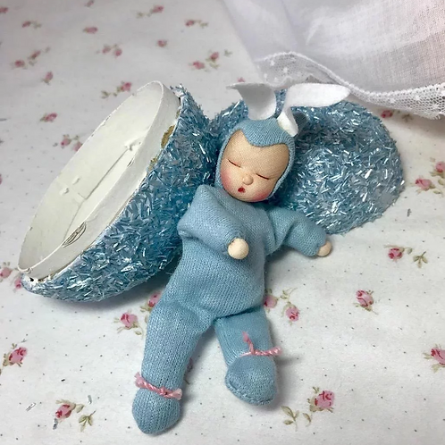 Rare * Tiny EASTER Egg BLUE Bunny Baby DOLL for Effanbee Dy-Dee