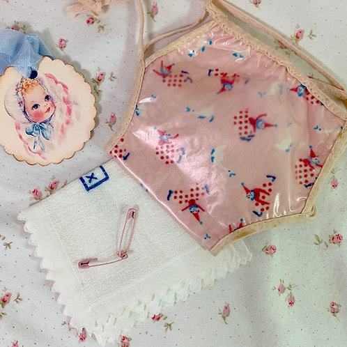 "Vintage 1950s Clown and Geese Diaper Cover and CHIX diaper 10"" -- 12"" Baby Doll"