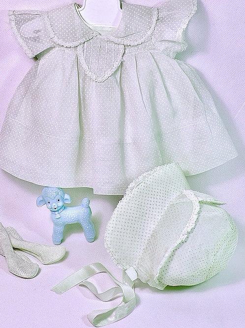 """Effanbee 15"""" Dy-Dee Dress Set -- Blue Dotted Swiss"""