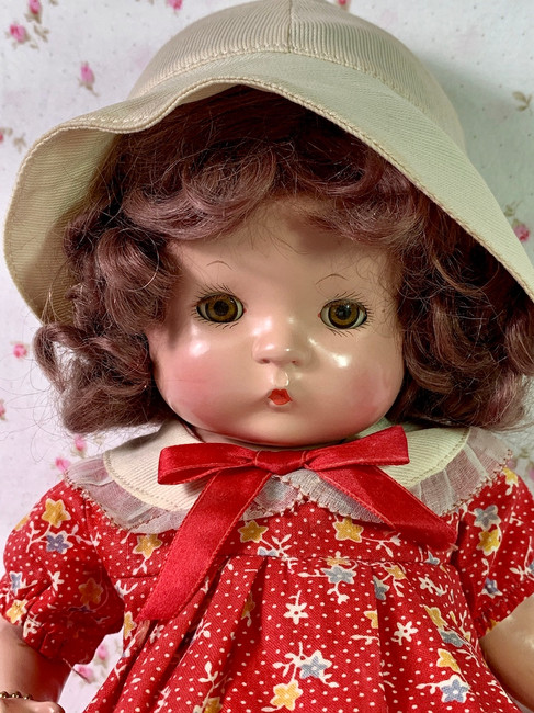 "MINT Vintage RARE Wigged Effanbee 13"" Patsy 1930's"