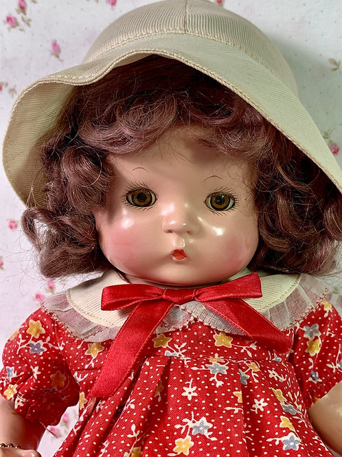 """MINT Vintage RARE Wigged Effanbee 13"""" Patsy 1930's"""