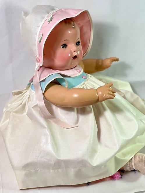 1940s Original Effanbee Dy-Dee Lou Dress Set -- Polished Cotton
