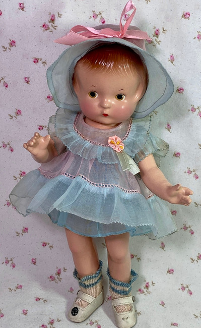 "1930s Effanbee 11"" Patsy Jr Composition Doll All Original"